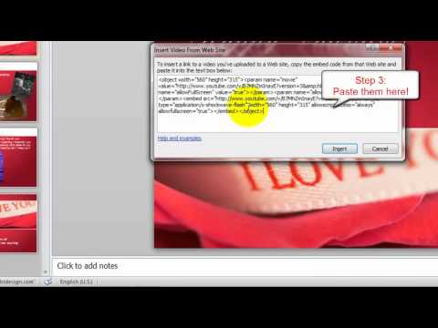 Microsoft PowerPoint 2010 Tips - How to Embed Online YouTube Video into PowerPoint 2010
