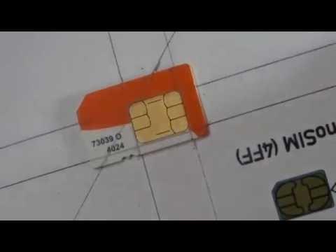 (3) DIY Learn How To Cut/Convert Regular Mini SIM Card To Micro SIM & NANO SIM + Template  2016