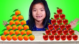 Emma Apples vs Oranges Pretend Play