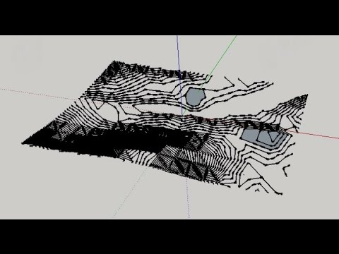 Creating contour lines in sketchup