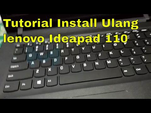 Cara masuk bios atau boot menu saat install ulang laptop lenovo ideapad 110