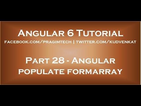 Angular populate formarray