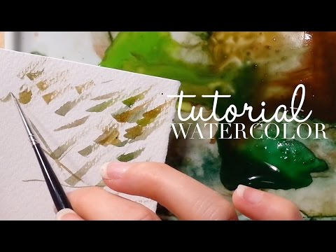 How to use Watercolor: Mixing the Perfect Green