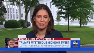 cable news reporters try to pronounce covfefe