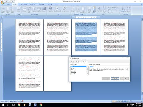 Shortcut Key to Delete Pages In MS Word (Delete Entire Page)