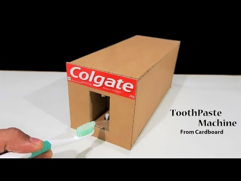 How to make an automatic Toothpaste Machine From Cardboard
