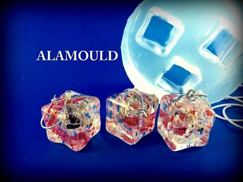 How to Create Resin Earrings & Pendant. Using ALAMOULD Clear Silicone Mold