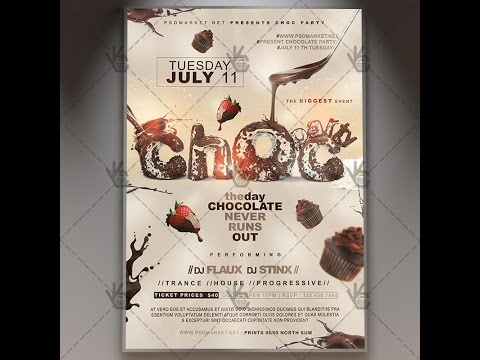 Chocolate Day - Premium Flyer PSD Template