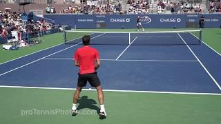 Federer v  Coric, 2017 US Open practice, 4K