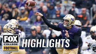 Washington vs. Colorado | FOX COLLEGE FOOTBALL HIGHLIGHTS