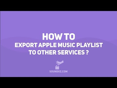 Soundiiz: HOW TO import Apple Music playlists to other services
