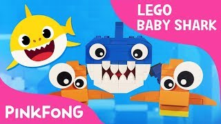 Lego Version of Baby Shark with Pixar Artist's Family   Animal Songs   Pinkfong Songs for Children