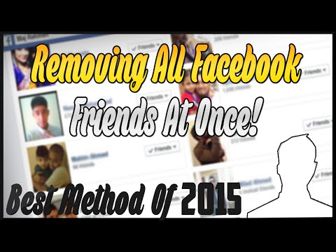 How To Remove All Facebook Friends At Once 2016!