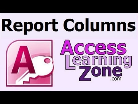 Using Columns in Microsoft Access Reports