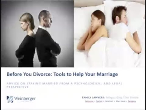 Before You Divorce: Tools to Help Your Marriage