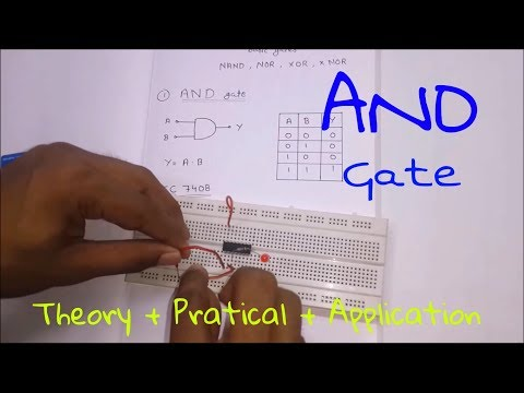 Logic Gates :- AND Gate [ Theory + Practical + Application ] (In Hindi)
