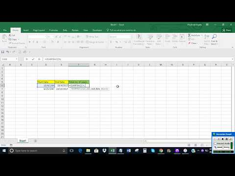 Calculate years between two dates in Excel