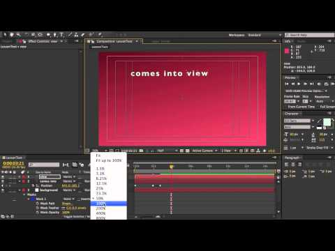 After Effects Demo Text Animation Looping Expression