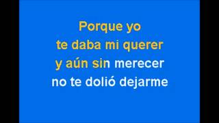 Es Demasiado Tarde- Ana Gabriel; Karaoke (Tono Bajo)