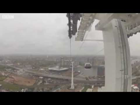 London's new cable car tested ahead of summer opening