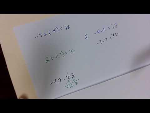 Adding and subtracting, order of operations