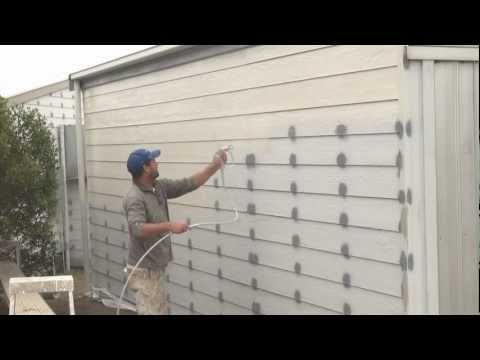 How To Spray A House - Airless spray painting exterior walls.