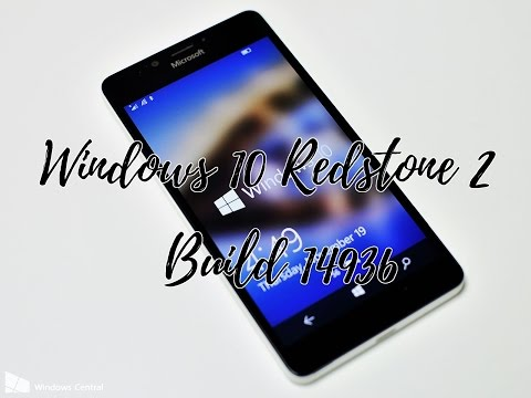 Hands on with Windows 10 Redstone 2 Mobile Build 14936