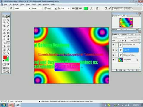 How to Make banner in photoshop 7.0 in urdu