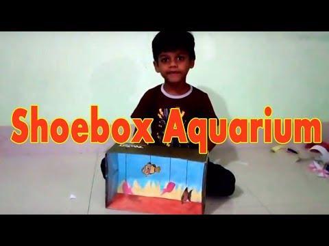 Shoebox Aquarium (Fish Tank) | Shoebox Crafts Project | How To Make an Aquarium