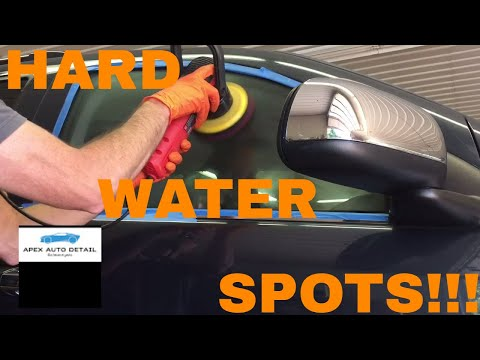 How to Remove Hard Water Spots From Clear Coat and Windows!!! Using QP ON 6.1 Med Cut.