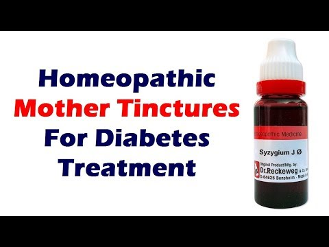 Homeopathic Medicines for Diabetes Treatment: Mother Tinctures