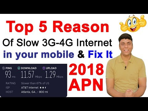 Top 5 Reason Of Slow 3G-4G Internet in your mobile & Fix It!