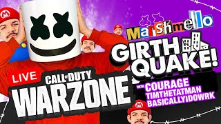 🔴COD Warzone GIRTHQUAKE w/ CourageJD/Alesso/BasicallyIDoWrk - Mello Gaming