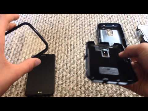 Unboxing of otterbox defender case for the LG G2.