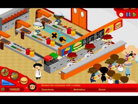 McDonalds Video Game/Burger Tycoon Walkthrough Part 1/3
