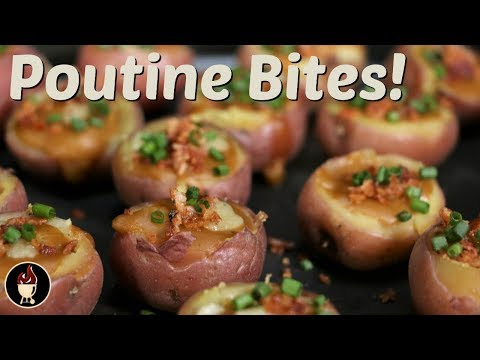 How To Make Poutine | Poutine Potato Bite Appetizer | Grilled Appetizers