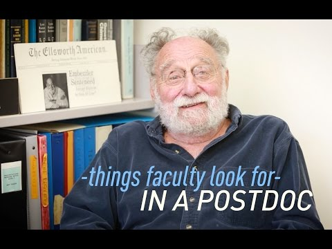 Things Faculty Look for in a Postdoc