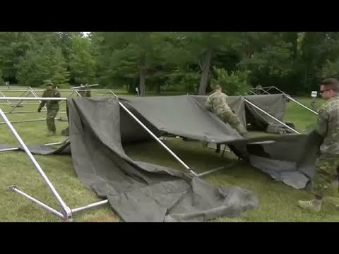 Canada builds tents for Haitian asylum seekers