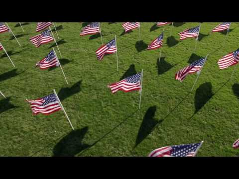 Flags of Honor and Gratitude - 4k video