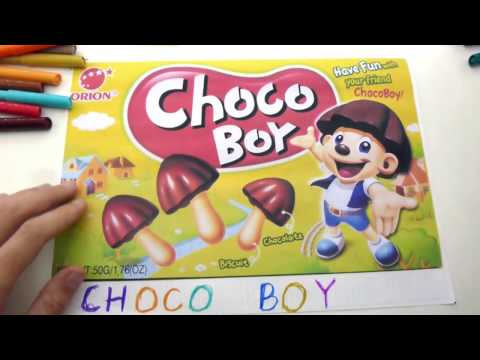 Choco boy Coloring Page Videos for Children