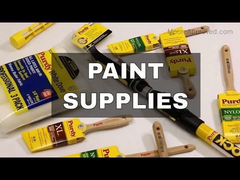 Purdy Painting Supplies: Brushes, Power Lock Extension Pole, Roller Covers | Review & Demo