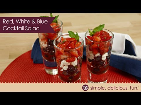 Red White & Blue Cocktail Salads