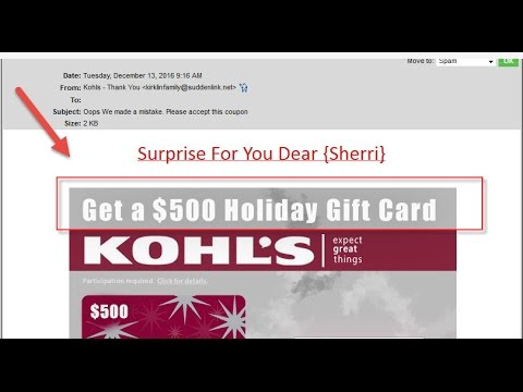 Kohl's Gift Card Scam Warning