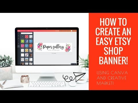 How to create an easy Etsy shop banner    How to legally source graphics!   Create an Etsy Shop!
