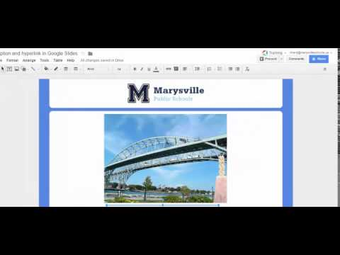 Adding an image with caption and hyperlink in Google Slides