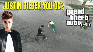 Grand Theft Auto 5 Funny Moments  - Killed Justin Bieber - HILARIOUS