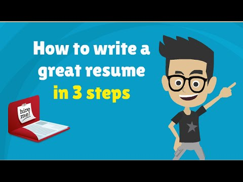 How to Write a Resume/CV in 3 steps - 3 Tips to Make a Good Resume!