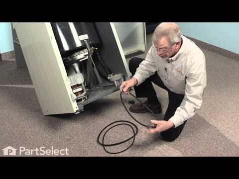 Washer Repair- Replacing the Drive Belt (Whirlpool Part # 211125)