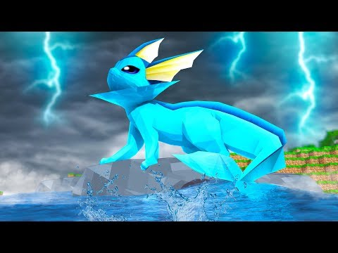 Minecraft   VAPOREON EEVEELUTION! (Water Stone Evolution)