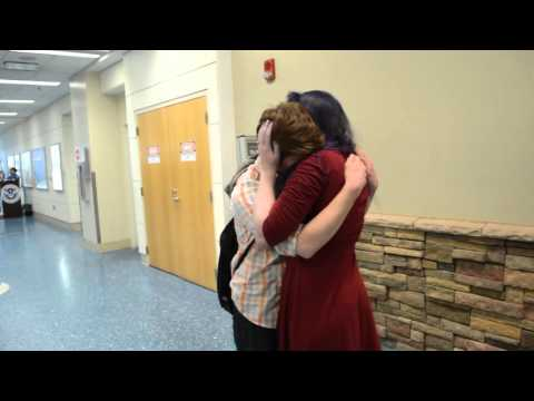 long distance relationship meeting for the first time surprise